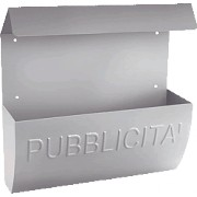 CASSETTA PUBBLICITA ALUBOX  RECLAME ARGENTO
