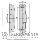 07083-25 CISA INCONTRI ELETTRICI CON ANTIRIPETITORE PER MANIGLIONI ANTIPANICO