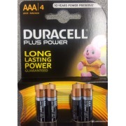 DURACELL PLUS POWER MINISTILO AAA 1,5V ( confezione 10 blister )