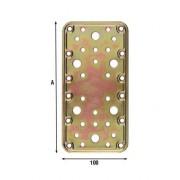 ALDEGHI LUIGI 766AT20 PIASTRE DIRITTE FORATE 200X100 MM. (scatola 20 pezzi )