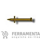 BLITZ CHIODI STRONG 2,5 x 23 mm  IN ACCIAIO OTTONATO CON RONDELLA SCORREVOLE (confezione 25 buste)